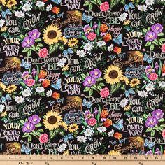 I've Got Sunshine Cotton Calico Fabric
