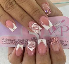 French Manicure Nail Designs, Diy Nail Designs, Acrylic Nail Designs, French Nails, Nail Manicure, Diy Nails, Acrylic Nails, Gorgeous Nails, Love Nails