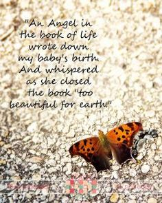 Beautiful words and photos about pregnancy loss.