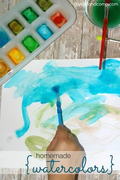 homemade DIY watercolors for kids