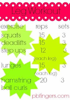 PB fingers legs workout
