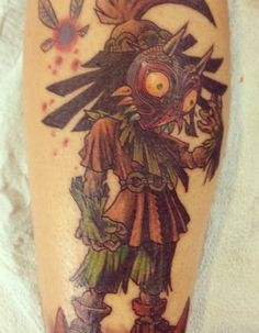 Legend of Zelda Majora's Mask tattoo
