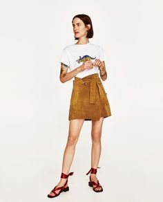 Image 1 of SUEDE MINI SKIRT from Zara