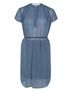 Clipdot Georgette Shirt Dress