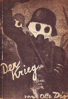 Otto Dix, portfolio cover, The War (Der Krieg), 1924. Portfolio of fifty etching, aquatint, and drypoints.