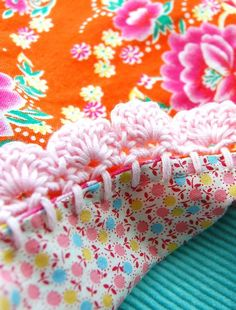 rosehip's crochet bordered pillowcases. i love the florals! another project to pull out the sewing machine for.