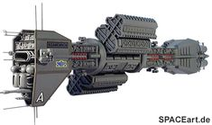 Babylon 5: E.A.S. Agamemnon, Modell-Bausatz ... http://spaceart.de/produkte/b5008.php