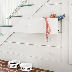 drawers make great use of under stair space