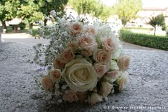 White and light pink bouquet - Bouquet con roselline color cipria
