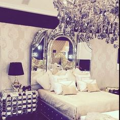 bed, bedroom, girl, girly, lifestyle, luxury, mirror, princess, queen, style, we heart it, white, joymzolo, dream ​, king sized