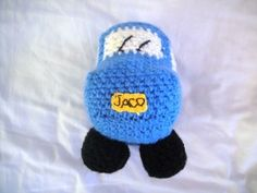 Little Blue Crochet Car - Look At What I Made