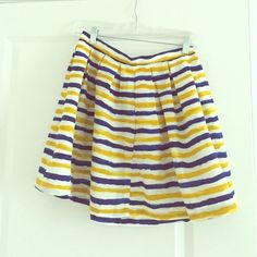 Jack by BB Dakota striped skirt Yellow and blue horizontal striped skirt. Size 2. Worn only once! Accepting all reasonable offers! Urban Outfitters Skirts