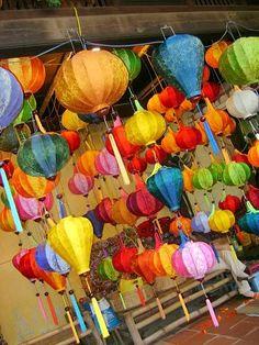 Vietnamese lanterns...looking forward to our Vietnamese wedding!