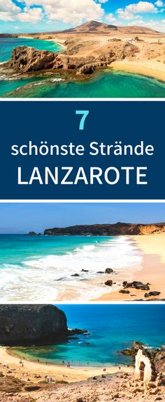 Lanzarote Strände Here you will find the 7 most beautiful beaches on Lanzarote. Menorca, Best Travel Hashtags, Cool Places To Visit, Places To Travel, Beaches In The World, Most Beautiful Beaches, Canario, Island Beach, Beautiful Islands
