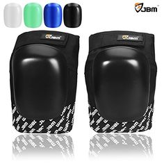 e00cd5025467 JBM Adult Knee Pads Guards Protective Gear with Replaceable Caps    Noctilucent in Multi Colors Impact Resistance Adjustable for Skateboarding  Inline Skate ...