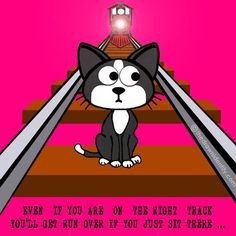 RIGHT TRACK - A humongous collection of my illustrated inspirational quotes to brighten even the darkest of days :) The Darkest, Identity, Digital Art, Family Guy, Inspirational Quotes, Cartoon, Illustration, Projects, Track