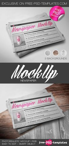 Free Newspaper Mock-up | Free PSD Templates