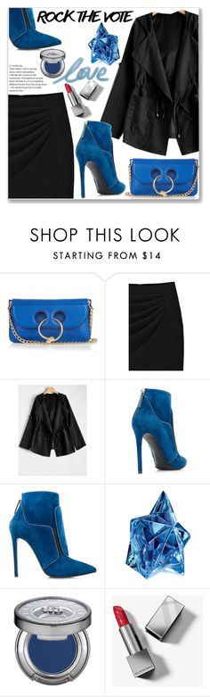 """""""Rock The Vote"""" by jecakns ❤ liked on Polyvore featuring J.W. Anderson, Thierry Mugler, Urban Decay, Burberry, WorkWear, outfit, skirt, falltrend and rockthevote"""