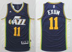 2014-2015 Adidas NBA Utah Jazz 11 Dante Exum New Revolution 30 Swingman Blue Jersey