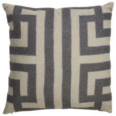 Kilburn Geometric Pattern Linen Throw Pillow