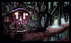 The ultimate fantasy!  Gypsy caravan, crystal ball, and all!!