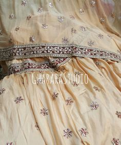 Creme Gharara with gota patti work.  #Gharara #ghararastudio #ghararastudiobyshazia #ghararadesign #ghararah #ghararafashion #ghararalove #ghararadsigner #bridal #bride #wedding #weddingdress #weddings #nikah #fashion #fashionblogger #fashionstylist #fashiongram #fashionblog #blog #indianfashionblogger #indianfashion #indianstylist #indiandress #indiantradition #style #glamour #dupatta #gota #gotapatti #gotapattiwork #orderonline #customised