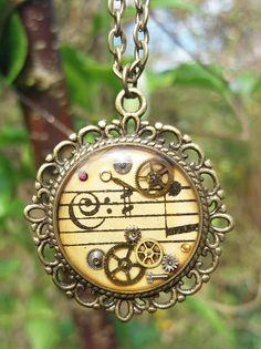 Timeless Musical Steampunk pendant