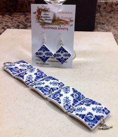 Set bracelet and earrings by LasJoyitasDeMarie on Etsy $40