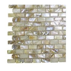 Splashback Tile Baroque Pearls Mini Brick Pattern Floor and Wall Tile Sample-R3D3 - The Home Depot