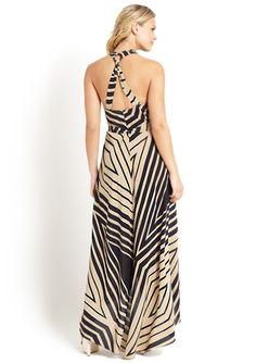 MATTY M Sleeveless Printed Maxi Dress