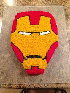 Iron Man cake, Kellan is so easy! Pull Apart Cupcake Cake, Cupcake Cakes, Iron Man Cupcakes, Boy Birthday Parties, 4th Birthday, Birthday Ideas, Birthday Cakes, Iron Man Party, Ironman Cake