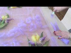 Видеоурок: валяние палантина с ирисами. Версия для ЯМ - YouTube
