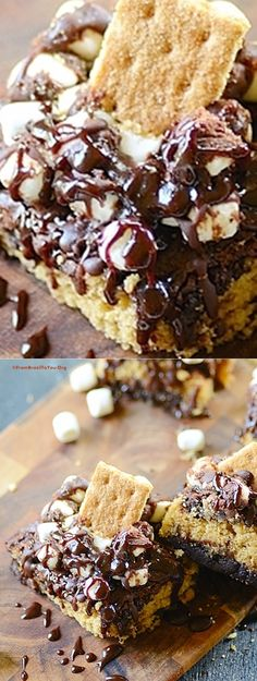 Sweet Potato-S'mores Brownies - The comfort of the sweet potatoes combined with the decadence of S'mores... A true hit!!!!!!!!!!