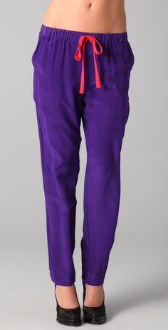 I really love these slouchy purple pants from Hy & Dot, especially with the pj trend in full force, these are perfect for lazy but chic days!  They also come in blue and orange.  $146