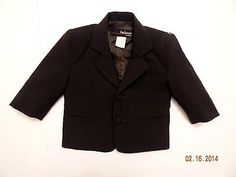 Boys Gino Giovanni Brown Formal Two Button Blazer Fully Lined Size Medium