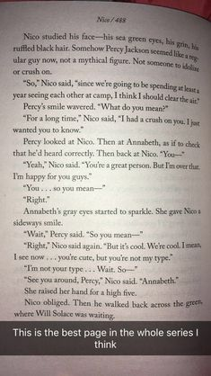 oh my god i literally wanna cry i cant even express how much im gonna scream rn most defining moment for the pjo/hoo fandom, this will explain everything to everyone who are lucky enough to not have Read any of the Percy Jackson books Percy Jackson Ships, Percy Jackson Quotes, Percy Jackson Fan Art, Percy Jackson Books, Percy Jackson Fandom, Solangelo, Percabeth, Magnus Chase, Trials Of Apollo