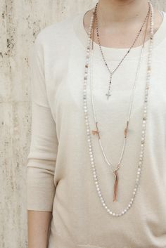 Chan Luu - African Opal Layering Necklace, $210.00 (http://www.chanluu.com/necklaces/african-opal-layering-necklace/)