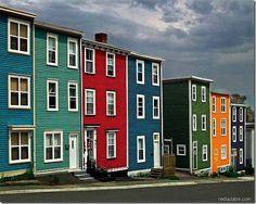 Jellybean houses, St. John's Newfoundland