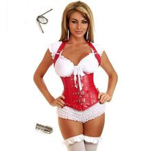 Halter Neck Red Leather Corset Steel Boned Underbust Corsets And Bustiers Steampunk Clothing Gothic Corpetes E Espartilhos Sexy //Price: $US $15.57 & Up To 18% Cashback //     #steampunktendencies
