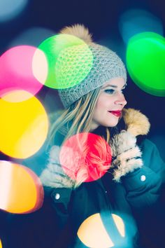 Just a single strand of Christmas lights and a couple of flash units are all you need to immerse your subject in full-blown bokeh bliss. Bokeh Portrait by Nick Fancher