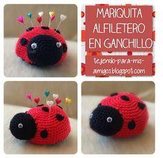 crochet tutorial for ladybug ♥ Crochet Pencil Case, Pencil Case Pattern, Crochet Toys Patterns, Amigurumi Patterns, Stuffed Toys Patterns, Mode Crochet, Diy Crochet, Crochet Hats, Lady Bug