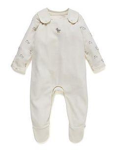 2 Piece Cotton Rich Duck Print Velour Bodysuit & Dungaree Outfit