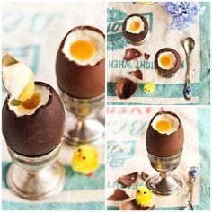 Čokoládová vajíčka plněné mascarpone krémem