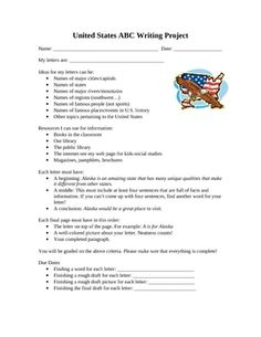 United States ABC Project Activity for Social Studies and WritingDo you want your students to learn more about the United States in a more crea...