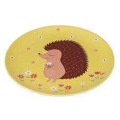 Honey The Hedgehog Melamine Plate from Rex London - the new name for dotcomgiftshop. Great value gifts and homeware in original designs.