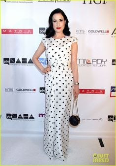 Dita Von Teese at the North American Hairstyling Awards 2013