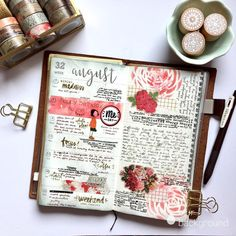 """39 Likes, 1 Comments - Cel (@scrapgurl14) on Instagram: """"Week 32 on my TN planner. This was my birthday week, which was a bit uneventful. Not complaining.…"""""""