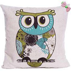 Caryko Home Decor Cotton Linen Square Pillow Case Cushion Cover Cute Owls (Owl-crew cut) Caryko http://www.amazon.com/dp/B00XYSTT9I/ref=cm_sw_r_pi_dp_qGwxvb0CGJVQ7