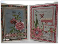 These are the cards we made in my Graphic 45 Botanical Tea Card and Tag Class at The Paper Forest. This has to be one of my favorite collections from Graphic We made all four of these beautiful… Birthday Tags, Birthday Cards For Women, Scrapbook Paper Crafts, Scrapbooking, Homemade Greeting Cards, Creative Workshop, Engagement Cards, Graphic 45, Card Tags
