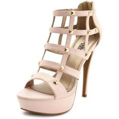 fc39cb72c58 Caged Pyramid Stud Pump Cute pumps with just the right sized platform.  Light pink